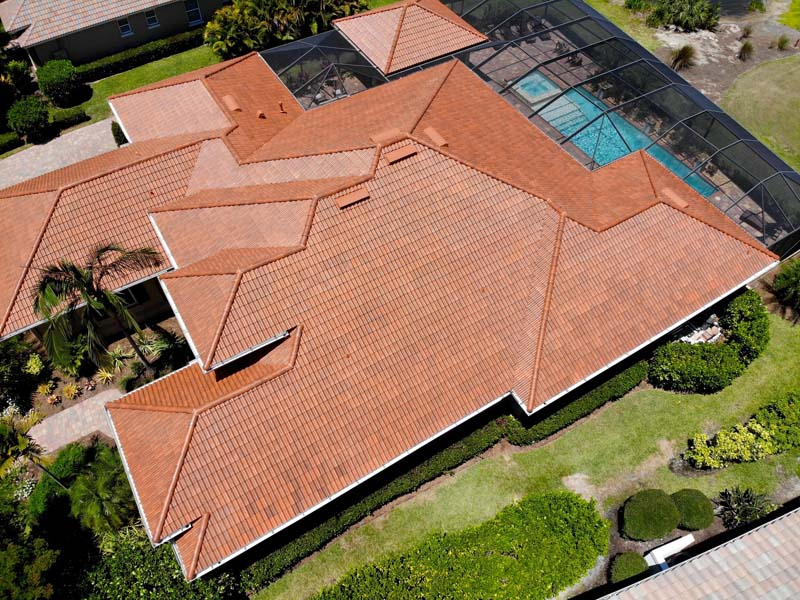 example of roofing done